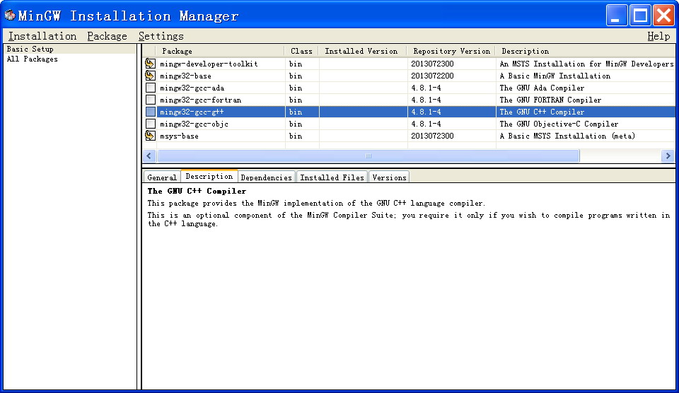 Windows系统结合MinGW搭建软件开发环境
